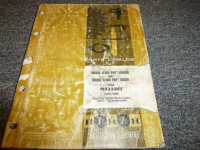 International Hough H90c Pay Loader D90c Pay Dozer Parts Catalog Manual Book