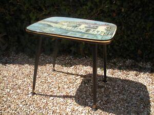 Vintage Coffee / Side Table. Atomic / Dansette Legs. 1950s/ 1960s Kitsch. Venice