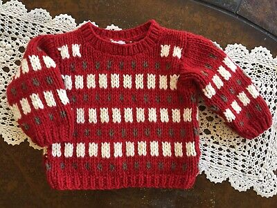 BABY GAP Red White Christmas Holiday Sweater Boys Girls Toddler Sz 2XL 2T