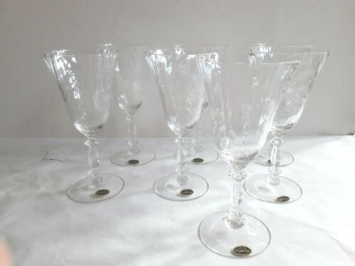 Set (7) Crystal Clear Cambridge Caprice 9 ounce Goblet Item #300