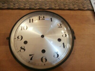 Vintage Westminster Mantle Clock Face, Dial & Brass Convex Bevelled Glass Door