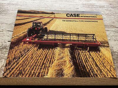 Case International 700 Series Pull Type Windrowers Sales Brochure