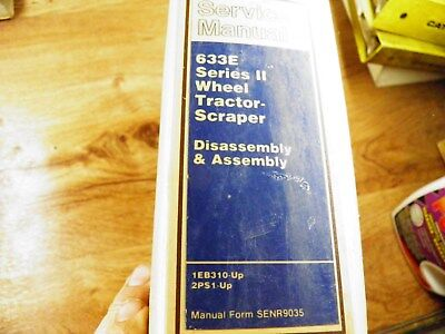 Cat Caterpillar 633E Ii Tractor Scraper Service Manual 1Eb310 Up 2Ps1 Up D A