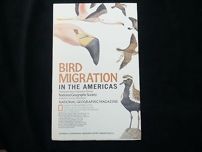 THE AMERICAS MAP+BIRD MIGRATION IN THE AMERICAS National Geographic August 1979