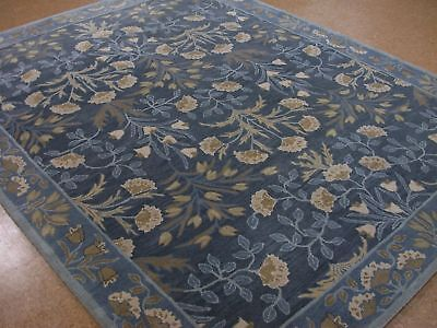 - Persian 2.5x9 3x5 5X8 8X10 9X12 Botanical Floral Blue wool area rugs BL08