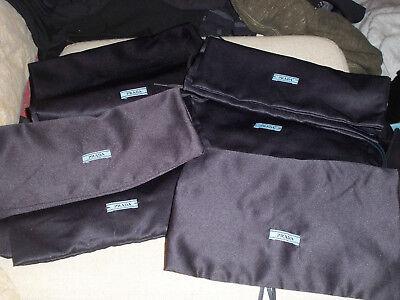 """Lot of 6  PRADA Navy Satin Finish Drawstring Dust Cover Travel Bag 8.5 X 13"""""""
