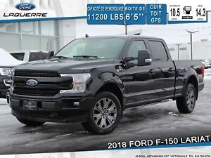 2018 Ford F-150 LARIAT SPORT**CUIR*TOIT*GPS*CAMERA*APPLE CARPLAY