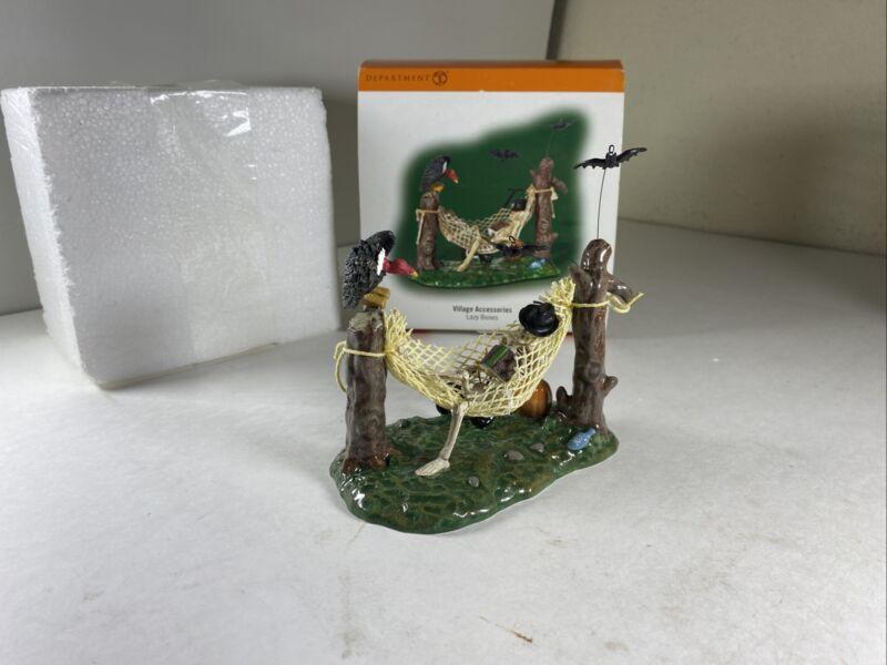 Dept 56 Halloween village accessories series lazy bones Orginal box #810634