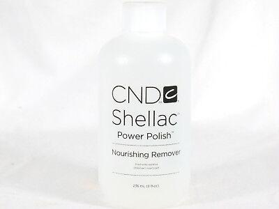 CND Shellac Power Polish NOURISHING REMOVER 8oz 236ml Gel Nail Remover for sale  Keller