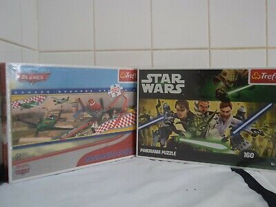 New Clementoni Disney Planes & Star Wars Trefl Fun Panorama Jigsaw Puzzle Combo