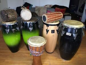 Congas djembe and Africa instrument