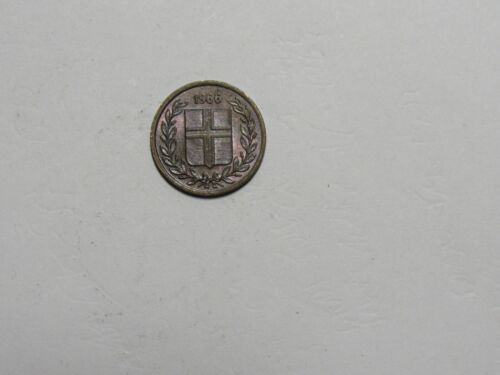 Old Iceland Coin - 1966 1 Eyrir - Circulated, rim dings