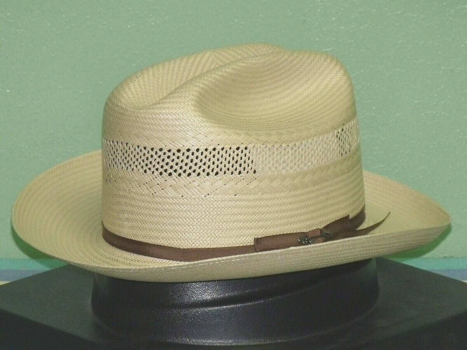 2e965c6e3 STETSON 10X SHANTUNG STRAW VENTED OPEN ROAD WESTERN HAT