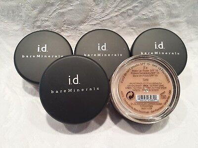 Bare Minerals Lot 5 I D  Powder Foundation   Tan   0 35 Oz Total