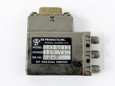 Db Products 2sf4e12 Coaxial Switch 3 Sma Female Connectors 115 Vac