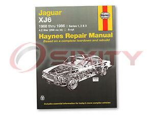 Jaguar XJ6 Haynes Repair Manual L Base C Shop Service Garage Book jq