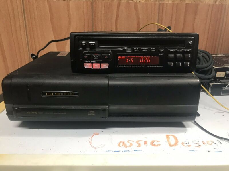 Old School Alpine 5959 Car Stereo Digital CD Changer Vintage Audio 7618 7909 Era