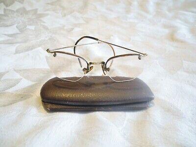 Vintage Art Deco Rimless Octagonal Spectacles Antique Eye Glasses 1/10 (Rimless Octagon Eyeglasses)