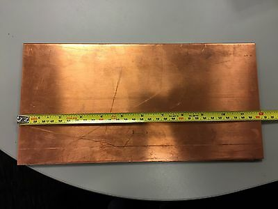 18 Copper Sheet Plate 6 X 12 X .125 Inch Thick 6inx12inx.125in