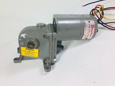 Vintage Dayton Gear Head Right Angle Electric Motor 12 Shaft