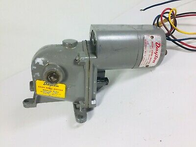 Vintage Dayton Gear Head Right Angle Electric Motor 12 Shaft