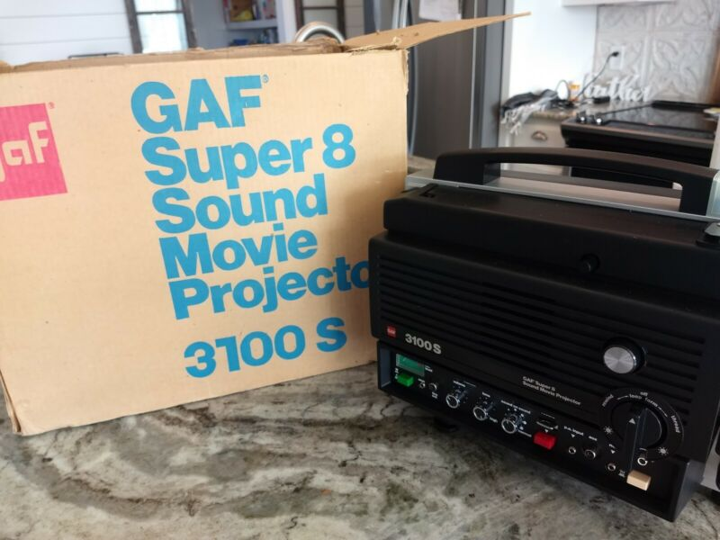 Gaf Super8 Sound Movie Projector 3100S Brand New 📽️📽️