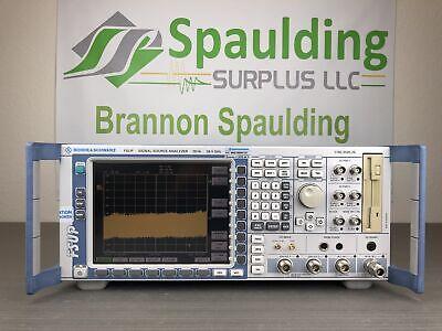 Rohde Schwarz Fsup26 20 Hz - 26.5 Ghz Signal Source Analyzer - Loaded Mfg Cald