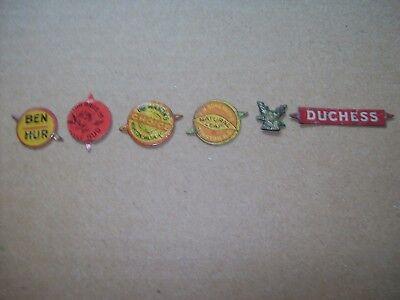 6 Vintage Tobacco Tags
