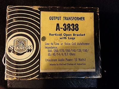 Stancor A-3838 Output Transformer Vintage Vertical Open Bracket