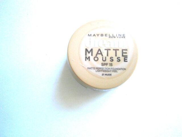 MAYBELLINE DREAM MATTE MOUSSE FOUNDATION 18ml - VARIOUS USE DROP DOWN MENU