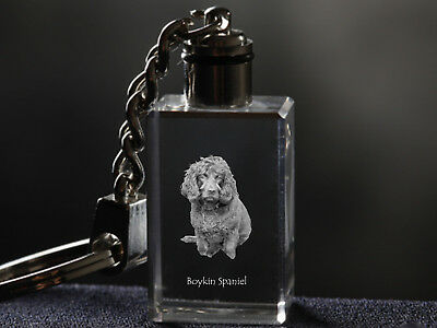 Boykin Spaniel, Dog Crystal Keyring, Keychain, High Quality, Crystal Animals CA