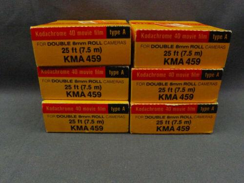 6 Rolls Kodak KMA 459 Type A Kodachrome 40 Movie Film 25ft  Date Mar. 1979