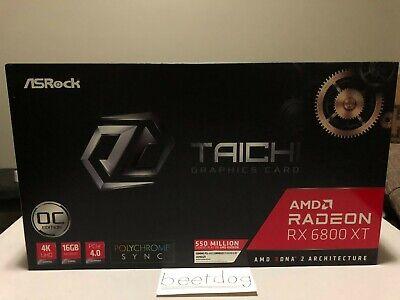 ASRock AMD Radeon RX 6800 XT TAICHI Graphics Card - In Hand