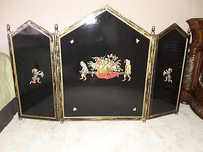 Hand Painted Monkey Business Fireplace Screen