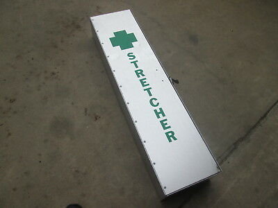 NOS Aluminum Storage Box, for Collapsible Stretcher, for Military Field Hospital Aluminum Field Box