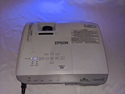 Epson PowerLite 97H H688A 3LCD XGA Projector 2700 Lumens 60 Lamp Hours