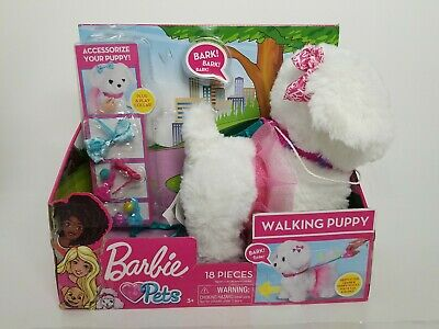 Barbie Pets Walking Puppy 18 Pieces Moves and Barks