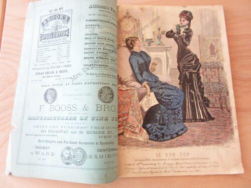 Le Bon Ton Ladies Sewing Pattern Catalog & Fashion Magazine November 1880 Taylor