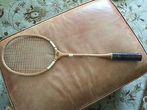 Antique badminton racquet - slazengers leader