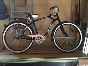 Mens New Cruiser Classic Bike & New Lock/Key