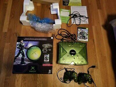 Original Xbox Halo Edition Console with Box