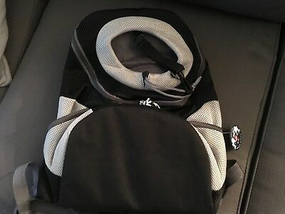 AG Pet Dog Backpack Travel Front Carrier Head out Tote Grey Large NO TAGS