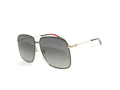 Gucci GG0394S 0394 001 Gold Gray Gradient Sunglasses