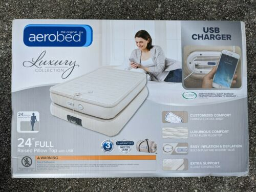 Aerobed® Pillowtop 24-Inch Full Air Mattress with USB Charg