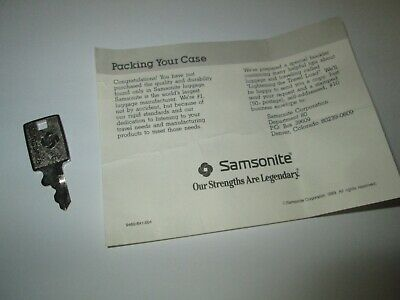 Vintage Genuine Samsonite Luggage Replacement Key 170S with Packing Paper