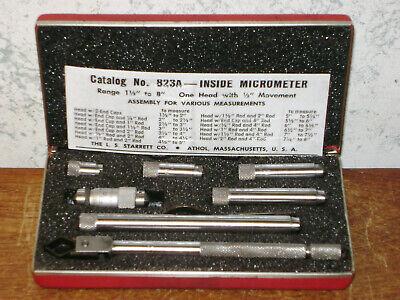 Starrett Tubular Id Inside Micrometer Set No 823a - Lotc