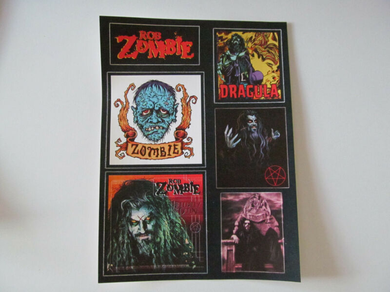vintage Rob Zombie White Zombie Vinyl Sticker Set Six Stickers