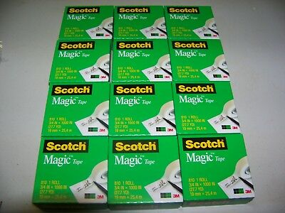 Scotch Magic Tape Refill 34 X 1000 Inches 12 Rolls -- Priority Shipping