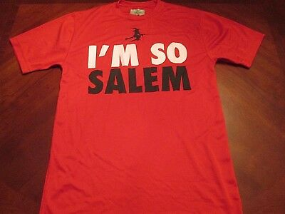 NEW I'M SO SALEM RED TECH FIT T-SHIRT SIZE S MA. HALLOWEEN WITCH CITY