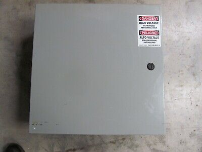 Wiegmann Electrical Enclosure N412202008c 20 X 20 X 8 With Back Plate